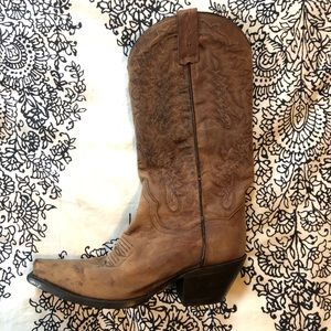 Dan Post Cowboy Boots Brown Leather Size 6